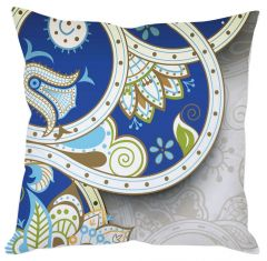 Blue Abstract Cushion Cover