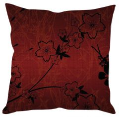 Maroon Floral Cushion Cover