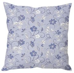 Lilac Blue Floral Cushion Cover