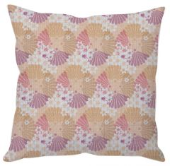 Orange Floral Cushion Cover