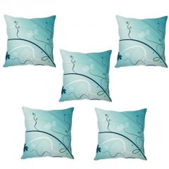 Stybuzz Blue Abstract Cushion Cover- Set Of 5