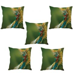 Stybuzz Paper Art Cushion Cover- Set Of 5
