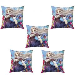 Stybuzz Anime Girl Art Cushion Cover- Set Of 5