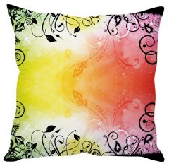 Stybuzz Colorful Abstract Art White Cushion Cover