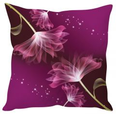 Stybuzz Abstract Floral Art Purple Cushion Cover