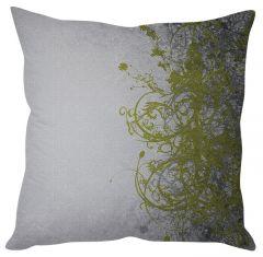 Stybuzz Green Vine Art White Cushion Cover