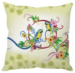 Stybuzz Parrot Art Green Cushion Cover