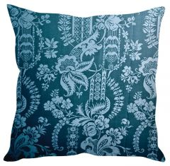 Stybuzz Blue Printed Art Blue Cushion Cover