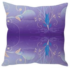 Stybuzz Violet Abstract Art Violet Cushion Cover