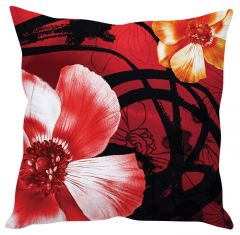 Stybuzz Red Poppy Flower Red Cushion Cover