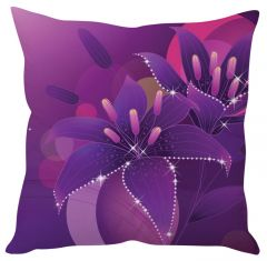 Stybuzz Purple Abstract Art Purple Cushion Cover
