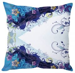 Stybuzz Floral Abstract Art White Cushion Cover