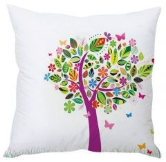 Stybuzz Tree Abstract Art White Cushion Cover