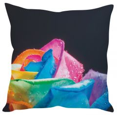 Stybuzz Colorful Rose Blue Cushion Cover