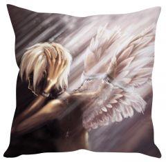 Stybuzz Angel Anime Boy White Cushion Cover