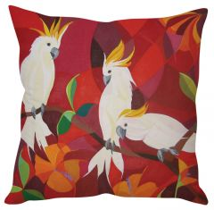 Stybuzz Parrot Art Painting Red Cushion Cover