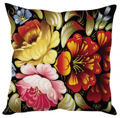 Stybuzz Flower Abstract Red Cushion Cover