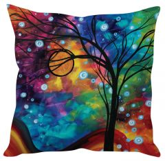 Stybuzz Tree Abstract Art Blue Cushion Cover
