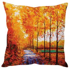 Stybuzz Autumn Painting Art Orange Cushion Cover