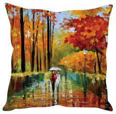 Stybuzz Walk In The Rain Orange Cushion Cover