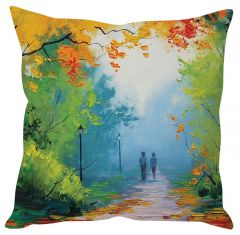 Stybuzz Painting Art Green Cushion Cover