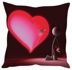 Stybuzz Painted Heart Red Cushion Cover