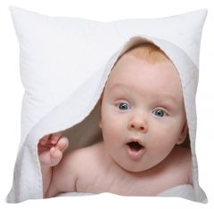 Stybuzz Shocked Baby White Cushion Cover