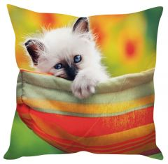 Stybuzz Cute Cat Orange Cushion Cover