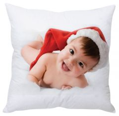 Stybuzz Santa Baby White Cushion Cover