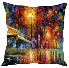 Stybuzz Abstract Painting Art Red Cushion Cover