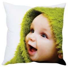 Stybuzz Happy Baby White Cushion Cover