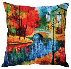 Stybuzz Painting Art Orange Cushion Cover