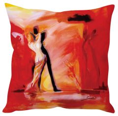 Stybuzz Couple Dancing Art Red Cushion Cover