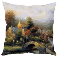 Stybuzz Painting Art White Cushion Cover