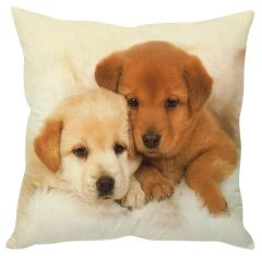 Stybuzz Cute Puppies White Cushion Cover
