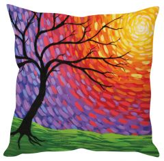 Stybuzz Tree Abstract Art Multicolor Cushion Cover