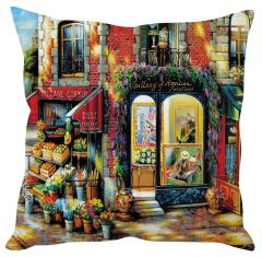 Stybuzz American Gallery Painting Art Multicolor Cushion Cover