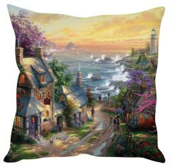 Stybuzz Sea View Painting Art Multicolor Cushion Cover