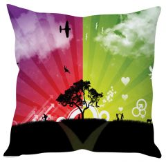 Stybuzz Abstract Tree Art Multicolor Cushion Cover