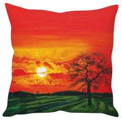 Stybuzz Sunset Painting Art Red Cushion Cover