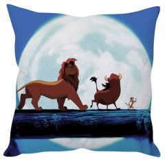 Stybuzz Lion King Blue Cushion Cover