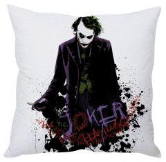 Stybuzz Joker Art White Cushion Cover