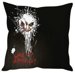 Stybuzz Joker Why So Serious Black Cushion Cover