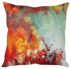 Stybuzz Abstract Painting Art Orange Cushion Cover