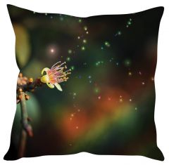 Stybuzz Magical Flower Black Cushion Cover