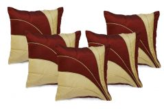 Stybuzz Maroon Embroidered Cushion Covers - Set Of 5 - (Product Code - EMBR00002)