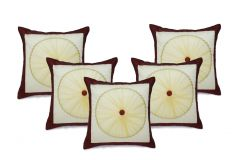 Stybuzz Brown Embroidered Cushion Covers - Set Of 5 - (Product Code - EMBR00010)