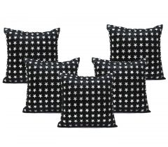 Stybuzz Black Embroidered Cushion Covers - Set Of 5 - (Product Code - EMBR000015)