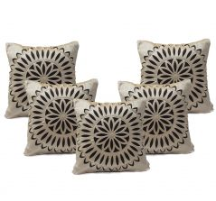 Stybuzz Brown Embroidered Cushion Covers - Set Of 5 - (Product Code - EMBR000020)
