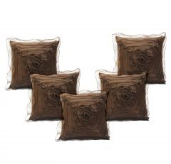 Stybuzz Beige Embroidered Cushion Covers - Set Of 5 - (Product Code - EMBR000038)